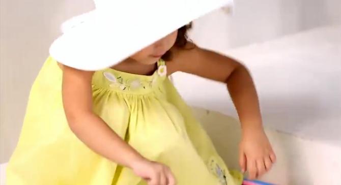 Détails look mini kid été fille catimini robe 2015