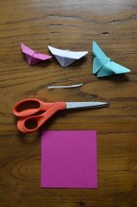 fournitures papillon origami